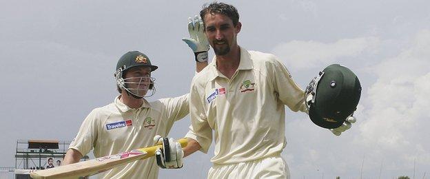 Australia captain Michael Clarke (left) and former team-mate Jason Gillespie