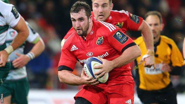 Munster prop James Cronin