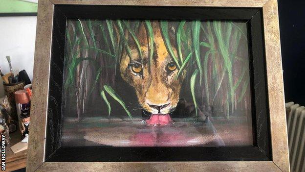 Ian Holloway painting
