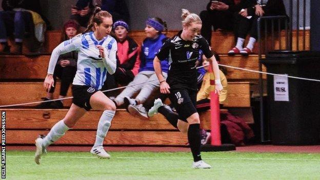 Georgia Stevens in action for Icelandic side Thor KA