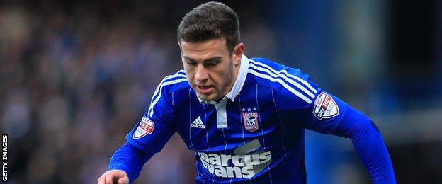 Bournemouth winger Ryan Fraser in action for Ipswich Town while on loan