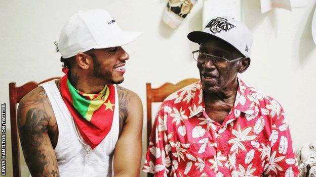Lewis Hamilton posts a picture of him and his grandad