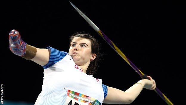 Hollie Arnold has now won four consecutive world titles in the women's F46 javelin