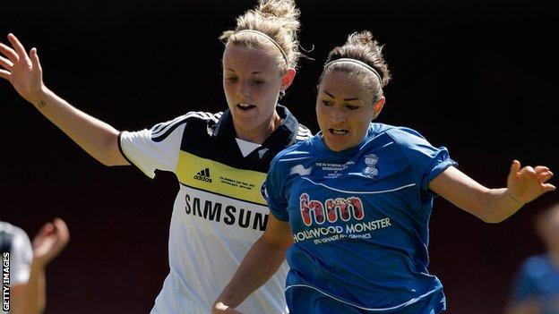 Sophie Ingle first Chelsea stint, in action v Birmingham