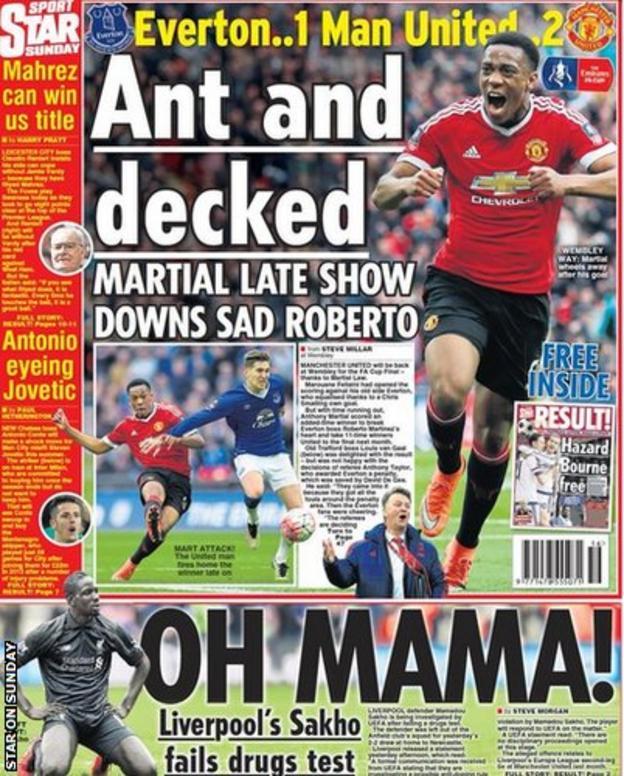 Star on Sunday back page