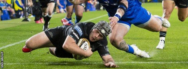 Grant Stewart's try five minutes from time came too late for Glasgow