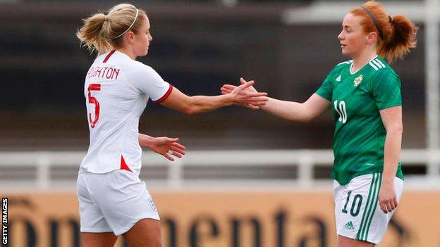 Steph Houghton and Rachel Furness