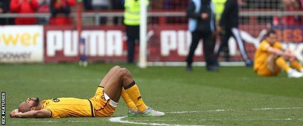 Port Vale relegated