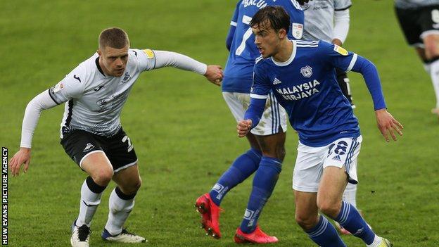 Tom Sang in action against Swansea