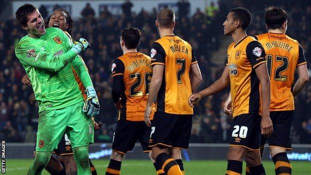 Hull players celebrate