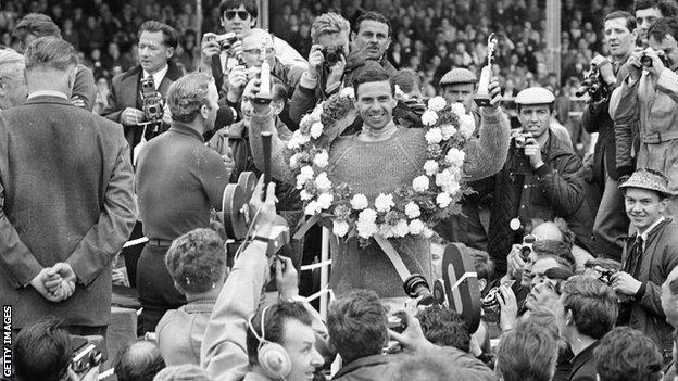 Jim Clark at the British Grand Prix in 1965