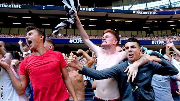 Newcastle's supporters celebrate