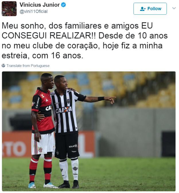 Vinicius Junior Twitter