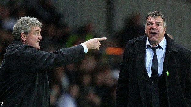 Hull manager Steve Bruce and Sunderland boss Sam Allardyce