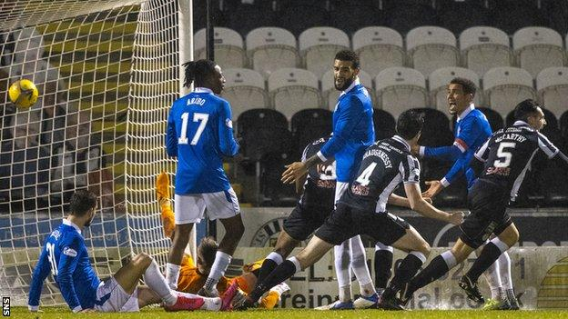A League Cup defeat to St Mirren in December is Rangers' only domestic loss this season