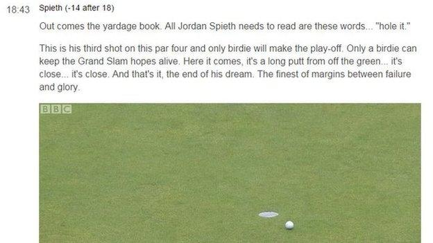 BBC live text commentary The Open