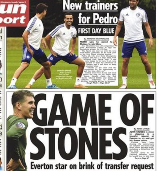 The Sun reports that John Stones is set to make a transfer request