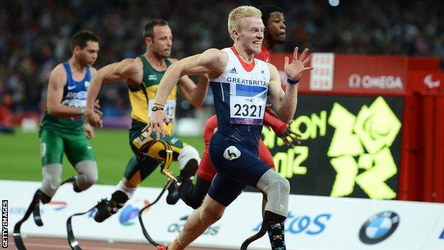 Jonnie Peacock in action for Team GB