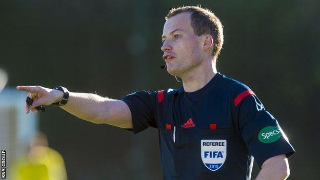 Scottish referee Willie Collum