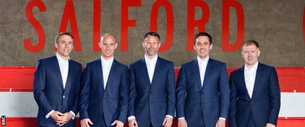 Salford City owners Phil Neville, Nicky Butt, Ryan Giggs, Gary Neville, Paul Scholes