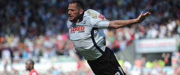 Shefki Kuqi's trademark as a player was his exuberant swallow dive after scoring a goal