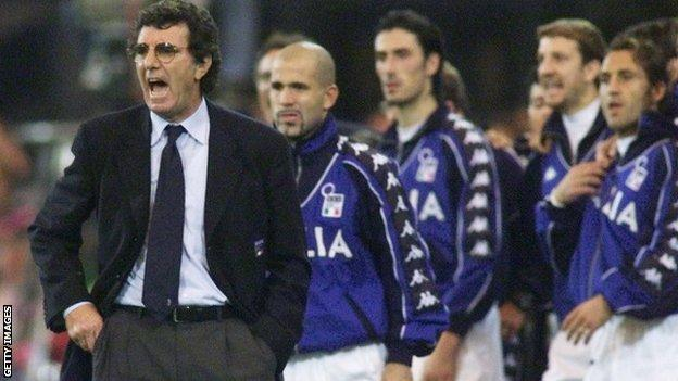 Former Italy and Juventus player and manager Dino Zoff