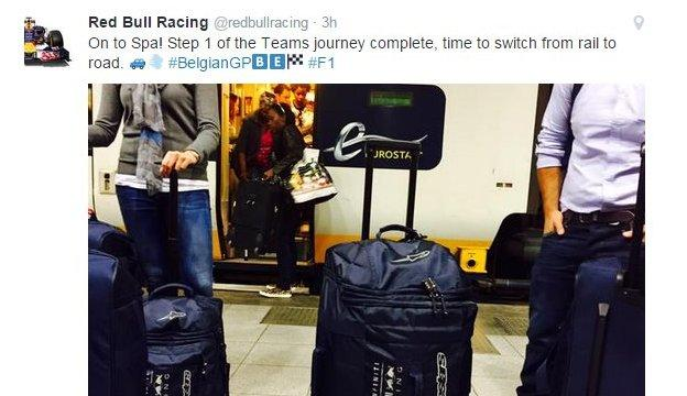 Red Bull opt for the Eurostar to Belgium