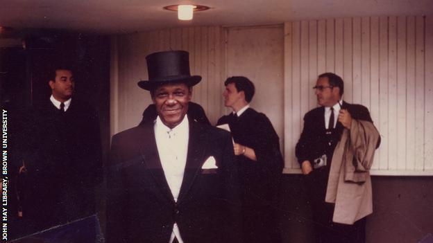 Fritz Pollard in top hat - Brown Digital Repository. Brown University Library