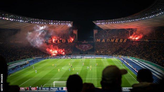 Hertha Berlin v Dynamo Dresden