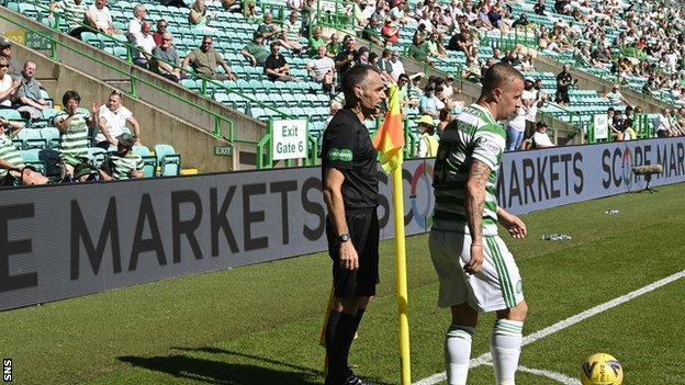 Leigh Griffiths received a mixed reception at Celtic Park last Saturday, his first appearance of the season