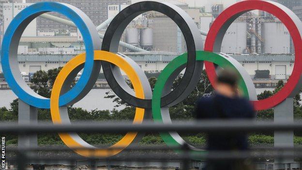 Olympic rings in Japan