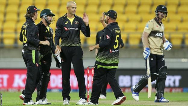 Ashton Agar celebrates one of his six wickets