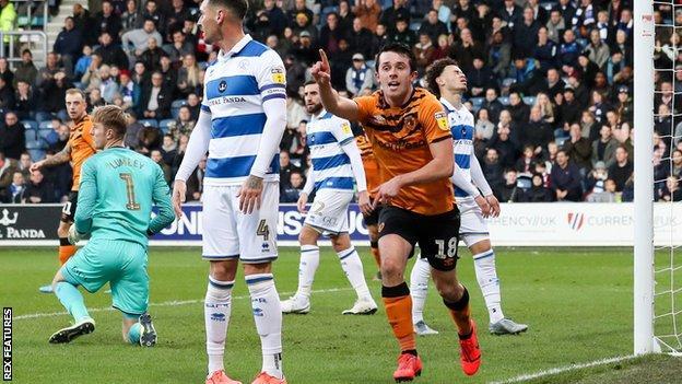 George Honeyman celebrates scoring for Hull City