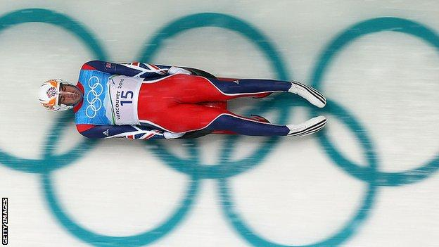 GB's AJ Rosen competing at the Vancouver Winter Olympics in 2010.
