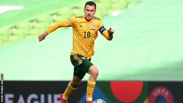 Aaron Ramsey a fait son seul pays de Galles de 2020 lors du match nul et vierge avec la République d'Irlande en octobre