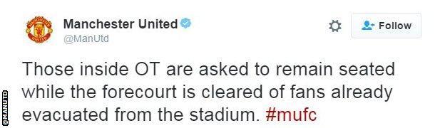 Manchester United tweet