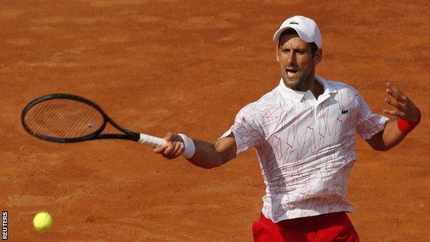 Novak Djokovic Through To Italian Open Final Bbc Sport