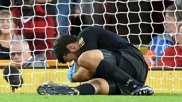 Liverpool keeper Alisson ruled out 'for next few weeks', says Jurgen Klopp