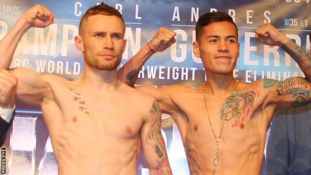 The fight will be Carl Frampton's first since losing his WBA title to Leo Santa Cruz in January