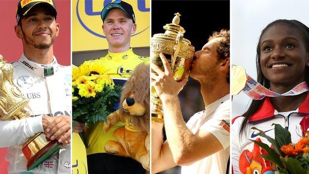 Lewis Hamilton, Chris Froome, Andy Murray, Dina Asher-Smith