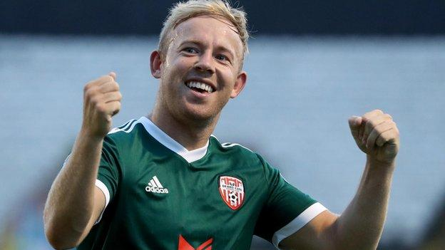 Low came off the bench in Derry's League Cup final win in September