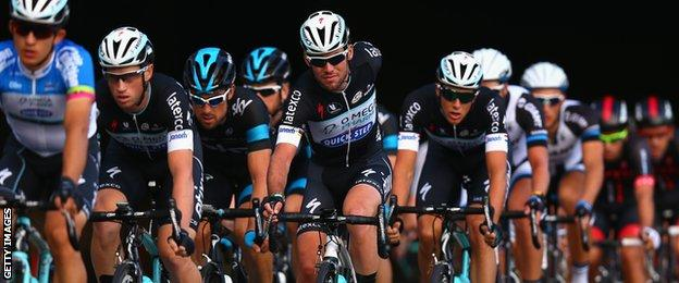 Mark Cavendish during stage eight of the Tour of Britain last year