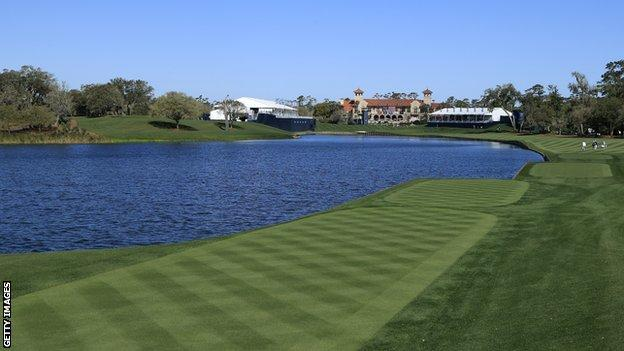 The 18th hole at Sawgrass