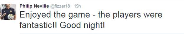Phil Neville on Twitter