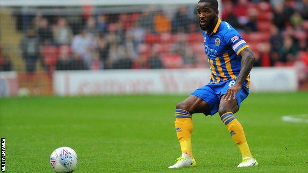 Abu Ogogo has made 42 appearances for Shrewsbury this season - and 124 in total