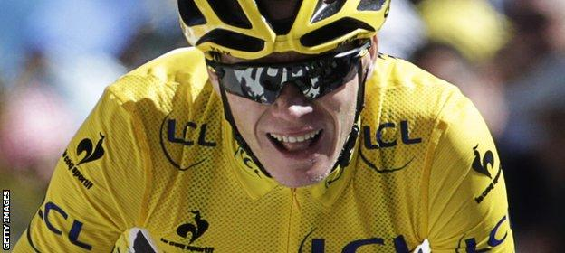 Chris Froome won the Tour de France for the first time in 2013