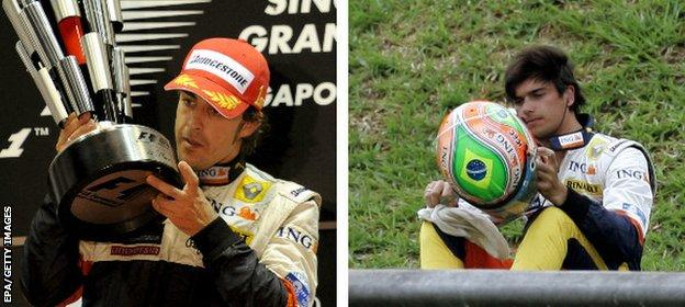 Alonso and Piquet Jr