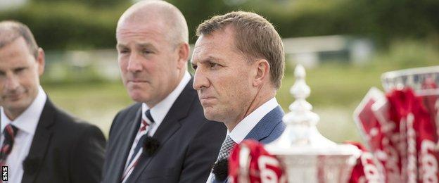 Rangers manager Mark Warburton and Celtic's Brendan Rodgers