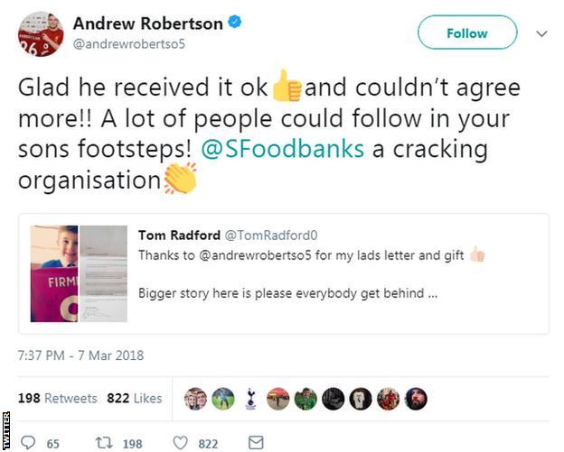 Andrew Robertson tweet