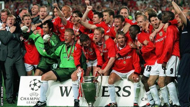 Manchester United's Treble-winning side in 1998-99